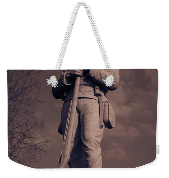 Confederate Statue  Standing Guard Weekender Tote Bag