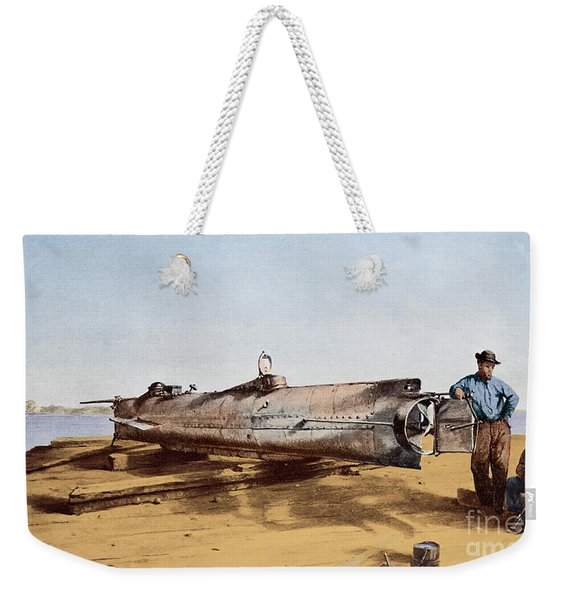 Confederate Submarine, Hunley Weekender Tote Bag