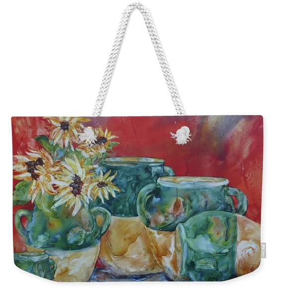 Confits And Sunflowers Weekender Tote Bag