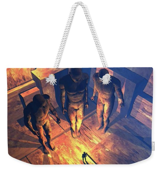 Confronted By Malignant Forces Weekender Tote Bag
