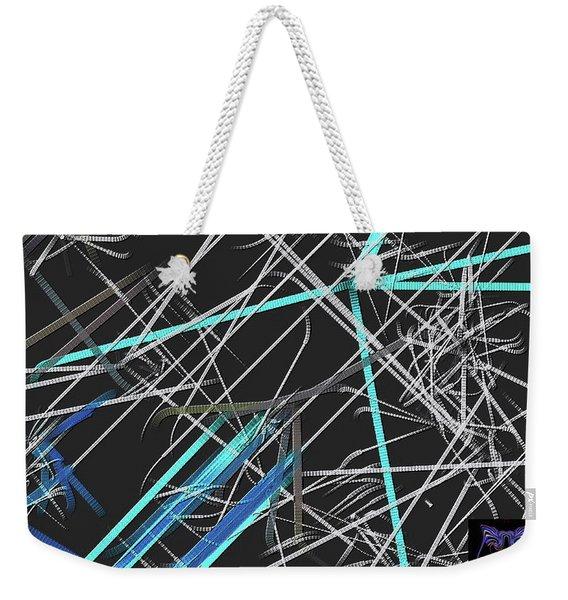 Weekender Tote Bag featuring the digital art Confused by Visual Artist Frank Bonilla