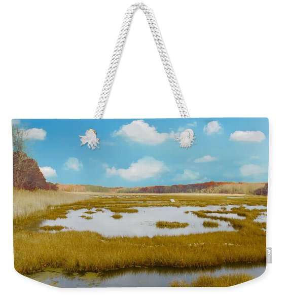 Connecticut Salt Water Marsh Weekender Tote Bag