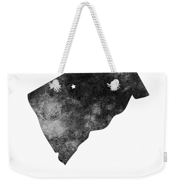 Connecticut State Map Art - Grunge Silhouette Weekender Tote Bag
