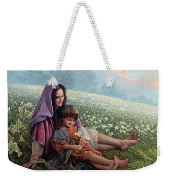 Consider The Lilies Weekender Tote Bag