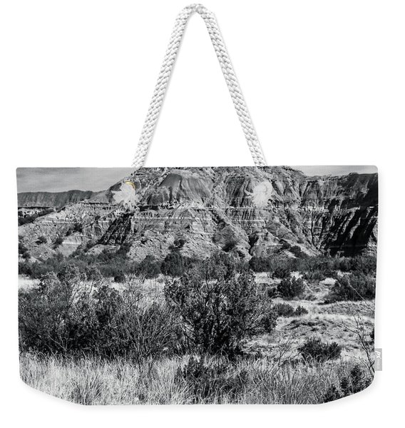 Contemplation Bench Bw Weekender Tote Bag