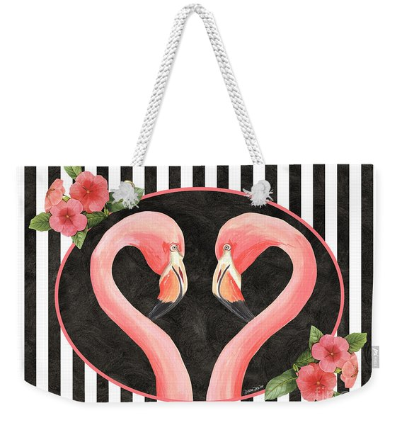 Contemporary Flamingos 1 Weekender Tote Bag