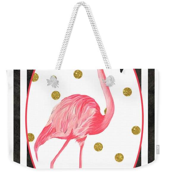 Contemporary Flamingos 2 Weekender Tote Bag