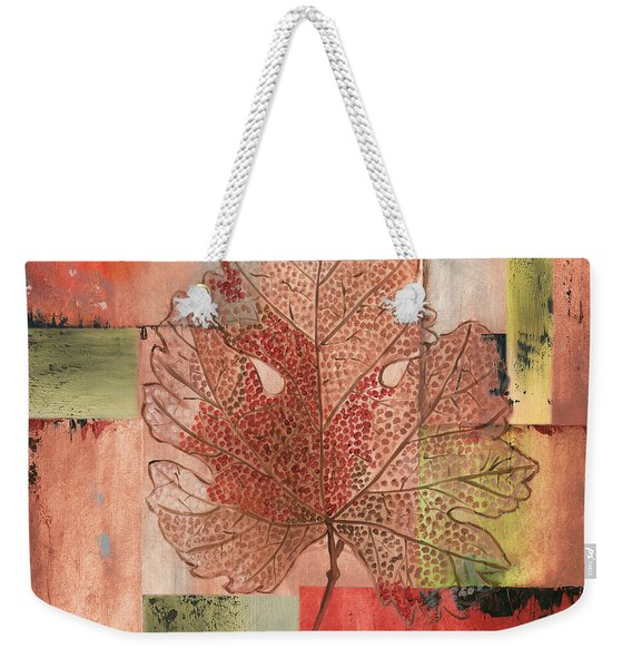 Contemporary Grape Leaf Weekender Tote Bag