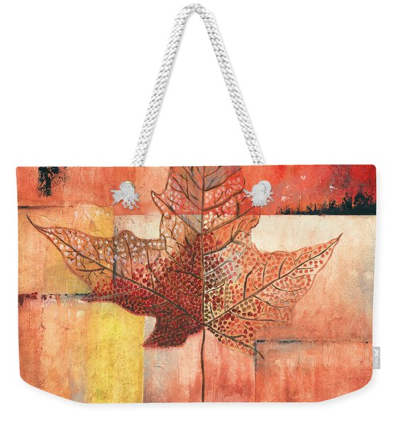 Contemporary Leaf 2 Weekender Tote Bag