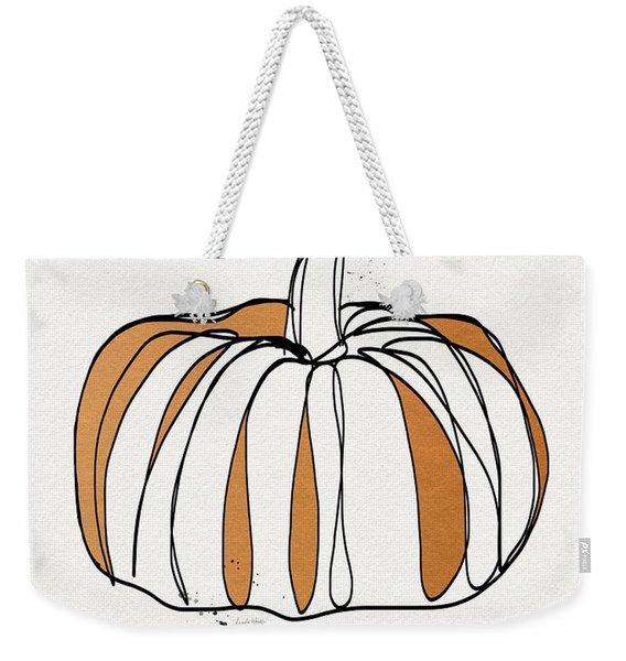 Contemporary Pumpkin- Art By Linda Woods Weekender Tote Bag