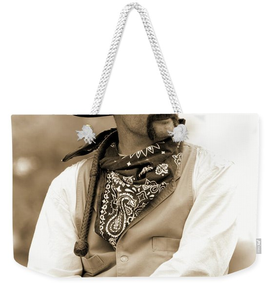 Content In The Saddle Weekender Tote Bag