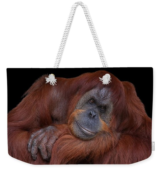 Contented Orangutan Weekender Tote Bag