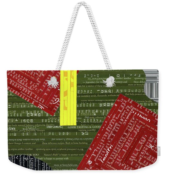 Contents May Settle Weekender Tote Bag