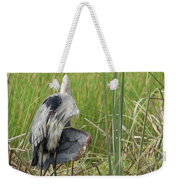 Contortionist Great Blue Heron Weekender Tote Bag