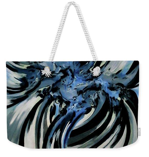 Conversation With Blue Poetry Weekender Tote Bag