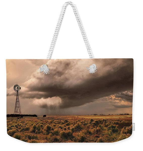 Weekender Tote Bag featuring the photograph Conway Storm Front by Scott Cordell