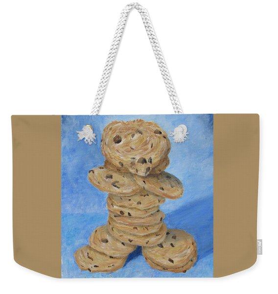 Weekender Tote Bag featuring the painting Cookie Monster by Nancy Nale