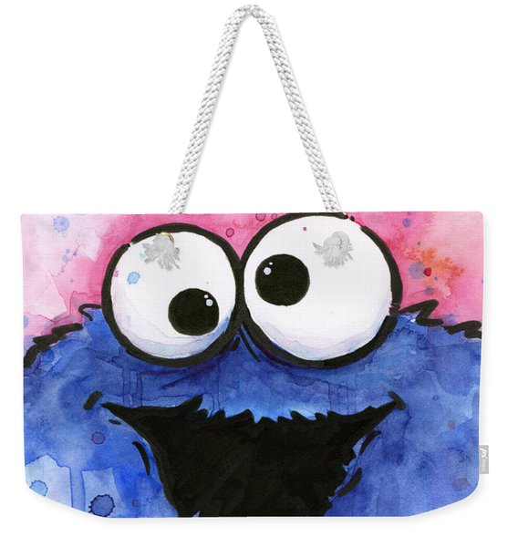 Cookie Monster Weekender Tote Bag