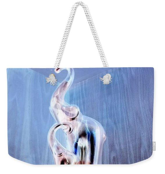 Cool Blue Elephants On The Corner Shelf Weekender Tote Bag