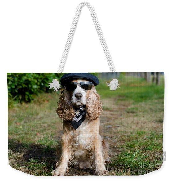 Cool Dog Weekender Tote Bag