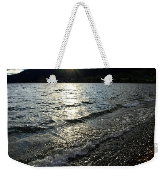 Cool Waters Sunset Weekender Tote Bag