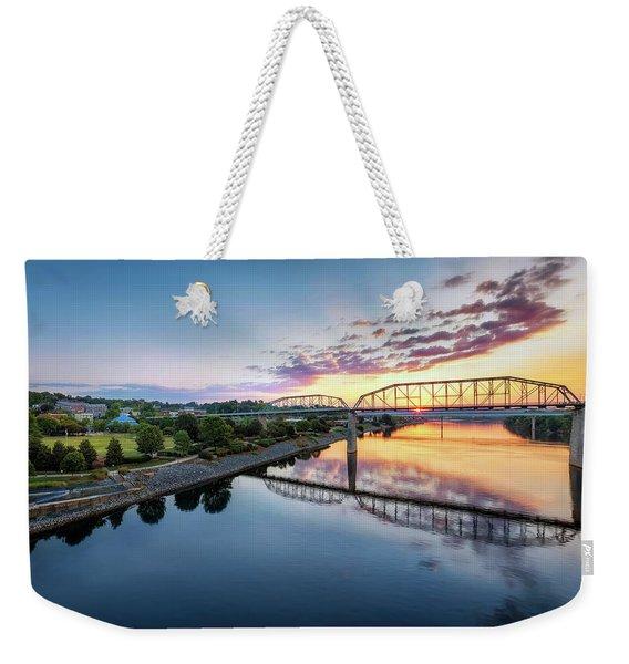 Coolidge Park Sunrise Weekender Tote Bag