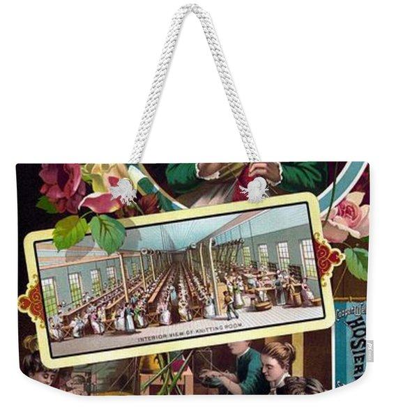 Cooper, Wells And Co. Seamless Hosiery - Vintage Advertising Poster Weekender Tote Bag