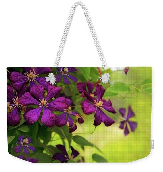 Copious Clematis Weekender Tote Bag