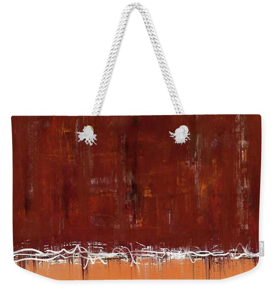 Copper Field Abstract Painting Weekender Tote Bag