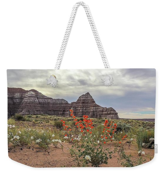 Copper Mallow And Pale Evening Primrose Weekender Tote Bag