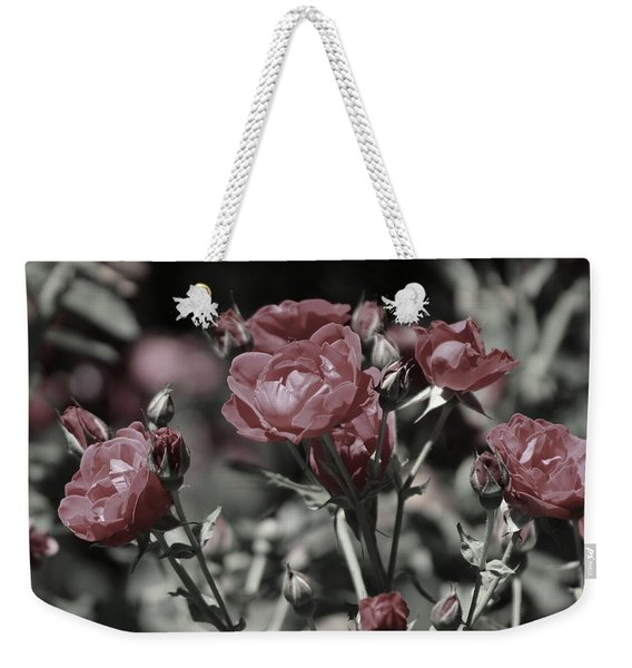 Copper Rouge Rose In Almost Black And White Weekender Tote Bag