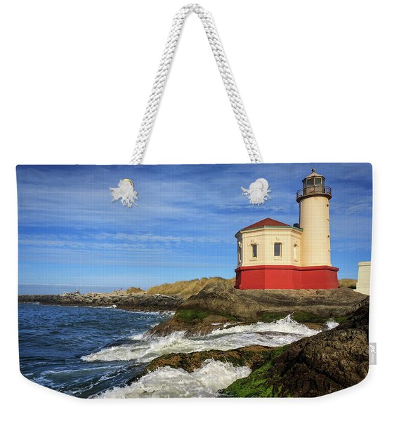 Coquille River Lighthouse At Bandon Weekender Tote Bag