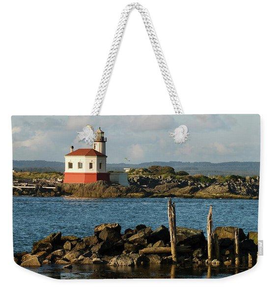 Coquille River Lighthouse Bandon Oregon Weekender Tote Bag