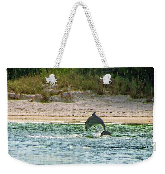 Coquina Dolphin Weekender Tote Bag
