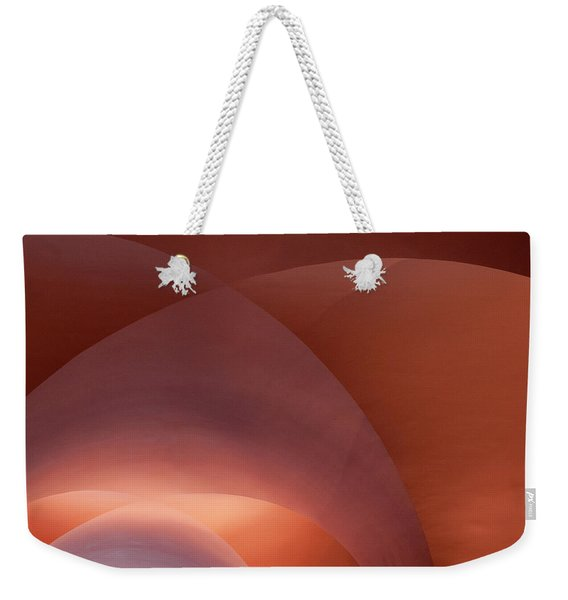 Weekender Tote Bag featuring the photograph Coral Arched Ceiling by Lorraine Devon Wilke