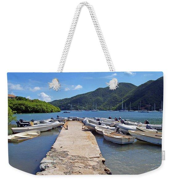 Coral Bay Dinghy Dock Weekender Tote Bag