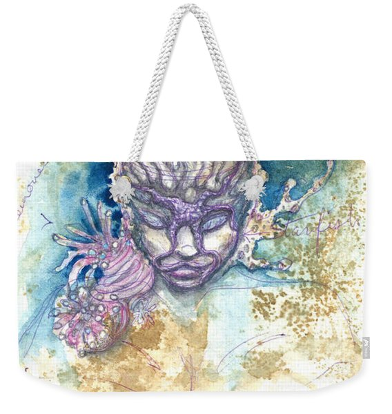 Weekender Tote Bag featuring the painting Coral Head by Ashley Kujan