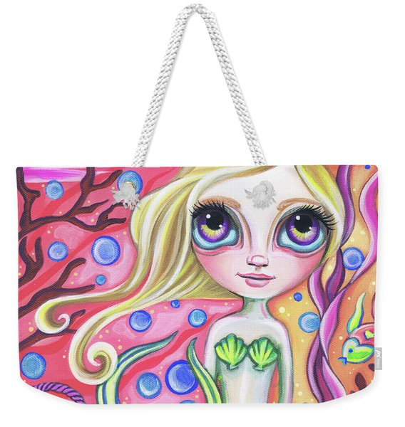 Coral Reef Mermaid Weekender Tote Bag