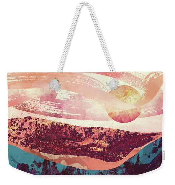 Coral Sky Weekender Tote Bag