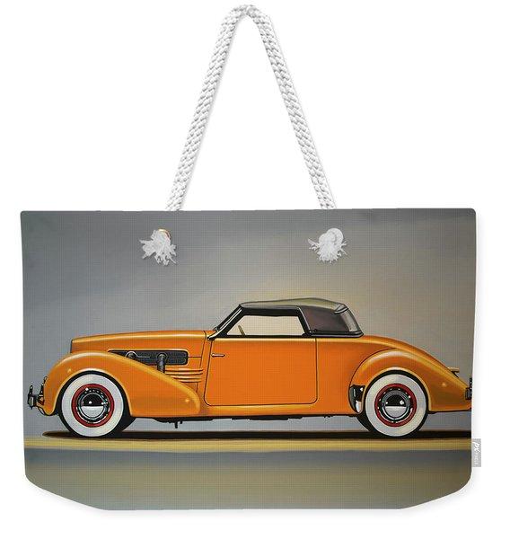 Cord 810 1937 Painting Weekender Tote Bag