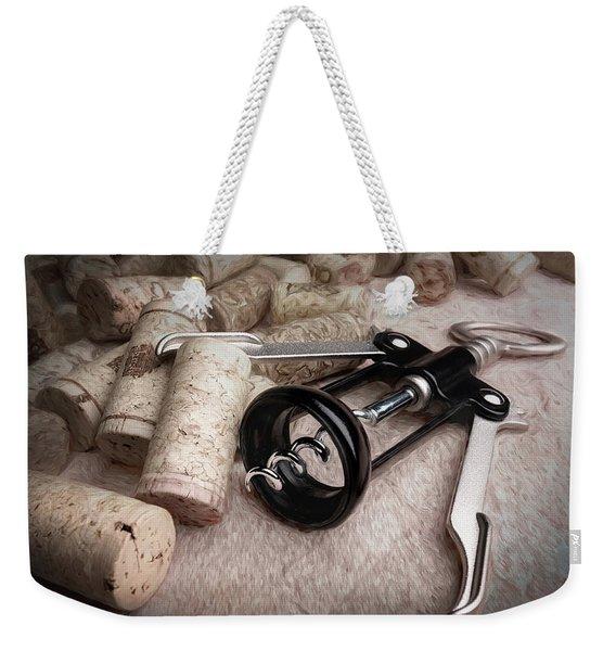 Corkscrew Wine Corks Still Life Weekender Tote Bag