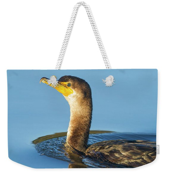 Cormorant Reflection Weekender Tote Bag