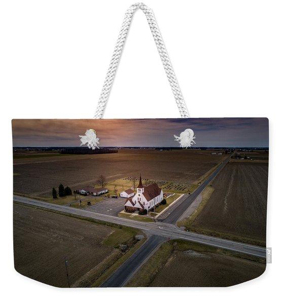 Corner Church Weekender Tote Bag