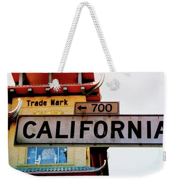 Corner Of California- Art By Linda Woods Weekender Tote Bag