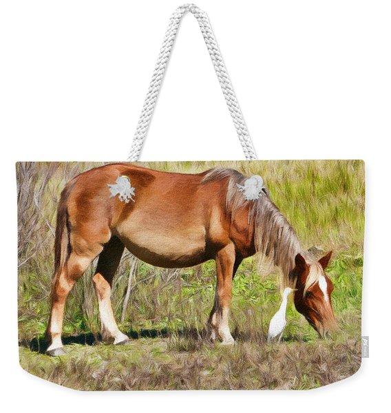 Corolla's Wild Horses Weekender Tote Bag