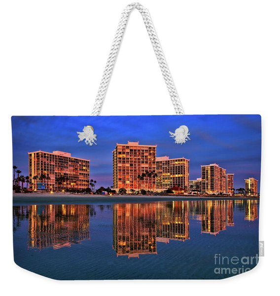 Weekender Tote Bag featuring the photograph Coronado Glass by Sam Antonio Photography