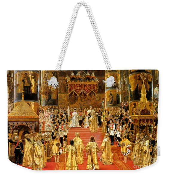 Coronation Of Emperor Alexander IIi Weekender Tote Bag