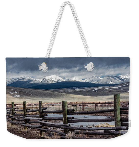 Corrals Near The Big Hole River  Weekender Tote Bag