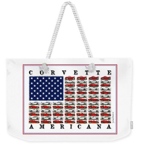 Corvette Americana Weekender Tote Bag