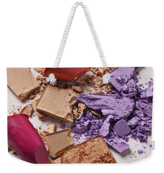Cosmetics Mess Weekender Tote Bag